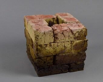16 Red Bricks in a Cube