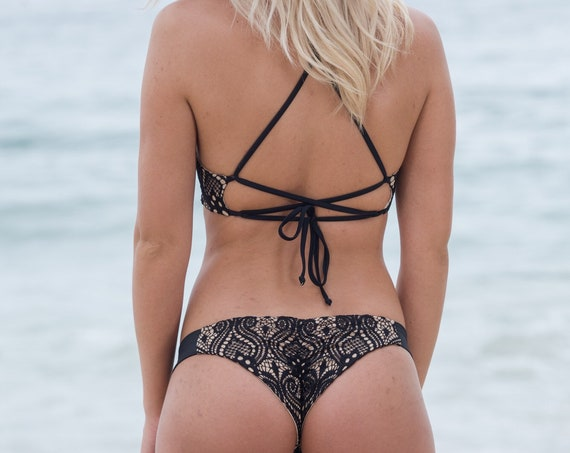 Lace Knit Bikini Bottom made by SULTRY SWIMWEAR®