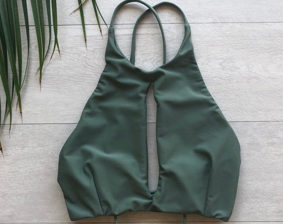 Key Hole Bikini in Sage made by SULTRY SWIMWEAR®