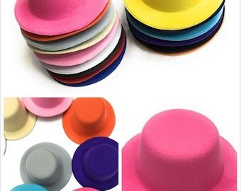 537ae7c6516 Set of 4 x Mini Round Top Hat Cap Fascinator Felt Hat Base Supplies  Wholesale