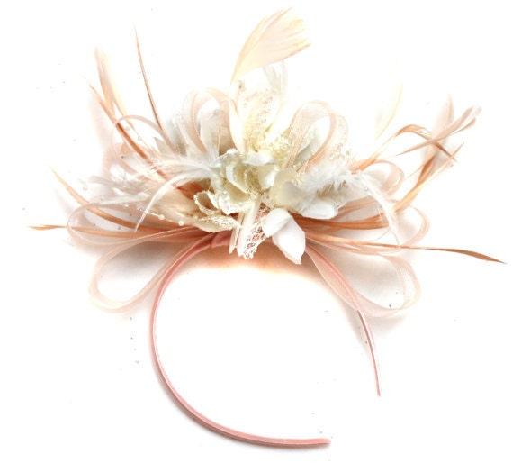 Ivoire crin Bandeau Bandeau Fête de mariage pièce course Ascot Bridal