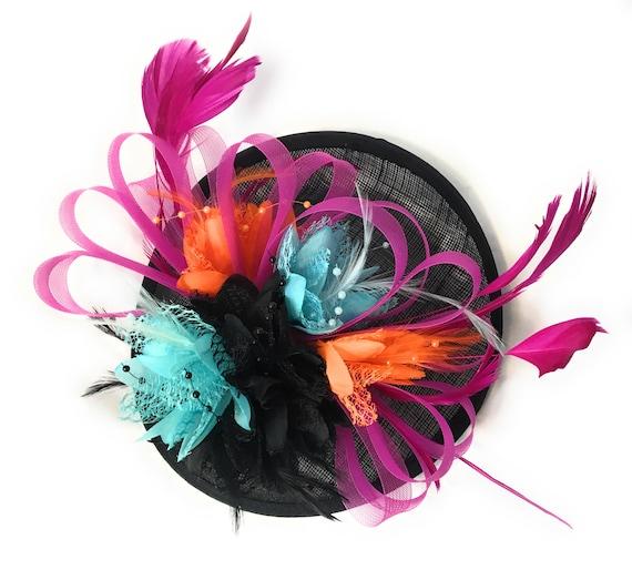 1af3a40c485ae Caprilite Bespoke Black Fuchsia Pink Orange Light Turquoise