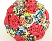 Paper Flower bouquet wedding bridal comic Marvel red comic book superhero