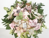 Paper Flower bouquet wedding Harry Potter Comic Marvel Pink theme EXAMPLE ONLY see description