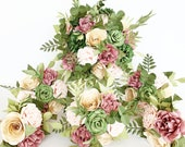 Paper Flower wedding Bridal bouquet foliage greenery romantic natural look