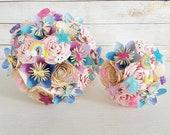 paper flower wedding bouquet Kawaii UK EXAMPLE ONLY see description