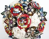 Bridal Bouquet Paper Flowers Comic Superhero Theme Magic the gathering EXAMPLE ONLY