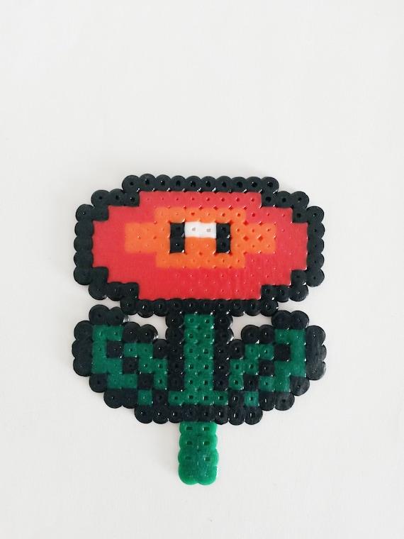 Inspire De Super Mario Feu Fleur Perler En Perle Hama Etsy