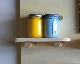 Pegboard wall shelves for creative spaces and children's bedrooms in ready sale