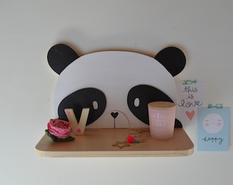 Shelf for gifts and children's bedrooms panda
