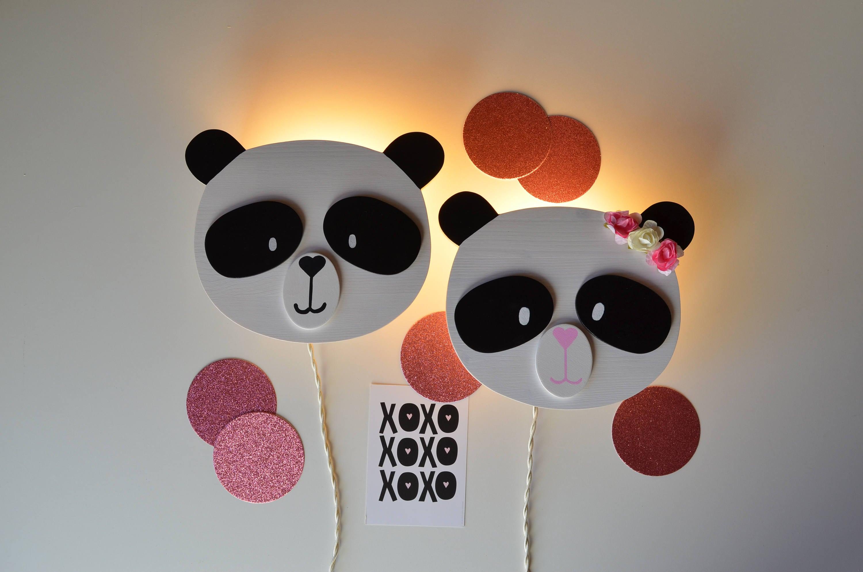 Lampada per camerette e nursery panda etsy