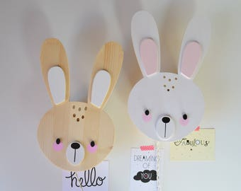 Children's room lamp and nursery rabbit ready to deliver