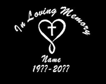 In Loving Memory Car Decals >> Memory Car Decal Etsy