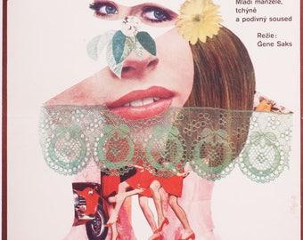 Movie Poster BAREFOOT IN the PARK, Original 1960s Poster, Robert Redford, Jane Fonda, Vintage Movie Poster, Vintage Wall Art, Film Poster