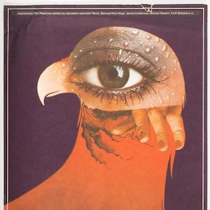Western Poster Stalking Moon Vintage Western Wall Art Illustration Original 1970s Movie Poster Film Poster