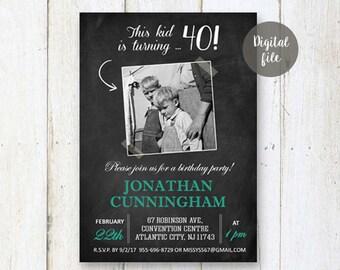 40th Birthday Invitation For Men
