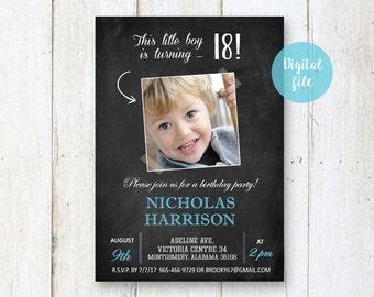 18th Birthday Invitation For Boys