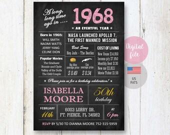 85th Birthday Invitations Chalkboard Vintage Photo Collage Etsy