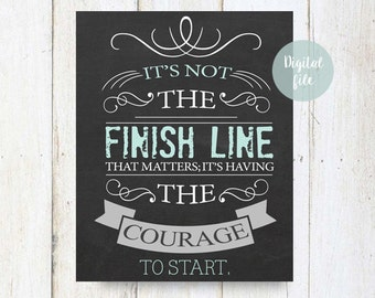 Inspirational quotes about courage - Chalkboard printable wall decor for living room working room office - INSTANT DOWNLOAD