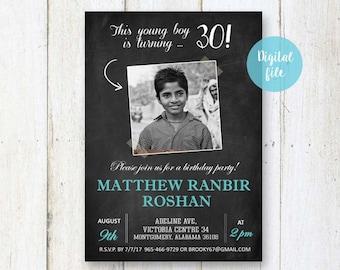 30th Birthday Invitation For Men