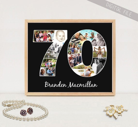 Personalized 70th Birthday Gift Custom Gifts For