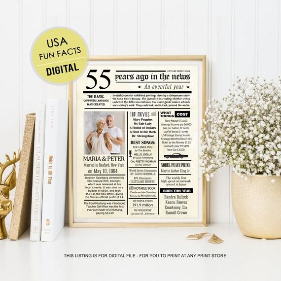 55a Idee Regalo Di Anniversario Per I Genitori Gli Uomini Etsy