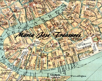 Vintage Venice (Italy) maps - Digital Download