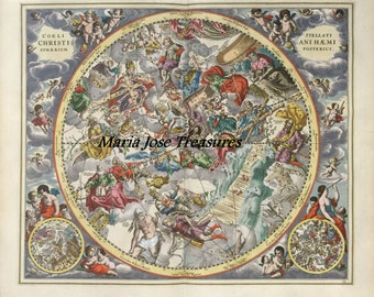 Vintage Astrology Charts and Celestial Maps - Digital Download