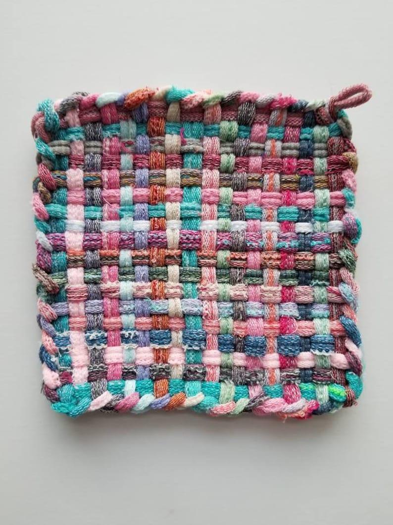 Granny/'s Woven Cotton Potholder Ready to Ship POTHOLDERS