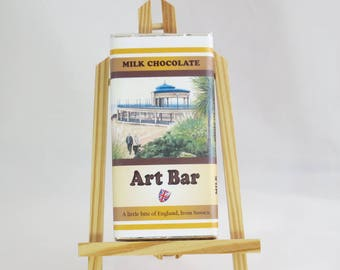 Eastbourne Bandstand Art Bar, Milk Chocolate 100g