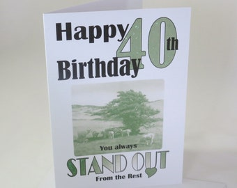40th or 50th Birthday Card