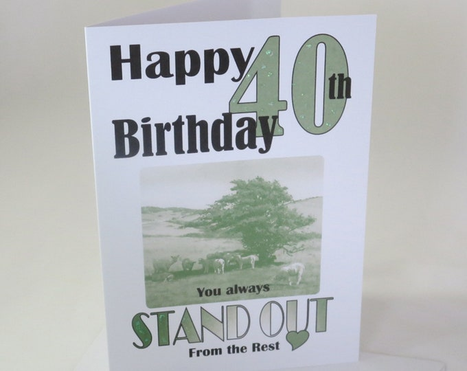 Featured listing image: 40th or 50th Birthday Card