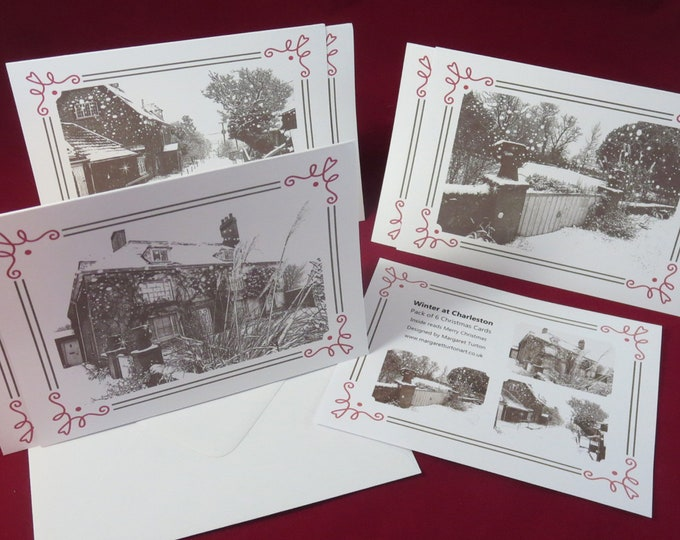 Featured listing image: Winter at Charleston Christmas Cards Pack of 6