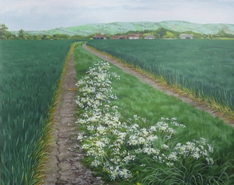 Farm Path, acrylic painting on canvas