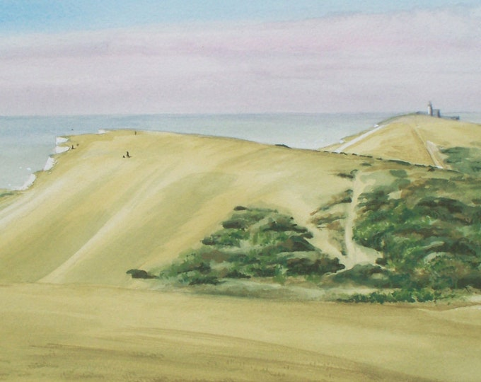 Featured listing image: Clifftop Curves, South Downs National Park, signed, mounted print