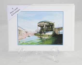 Pack of 6 Eastbourne Bandstand in 2050 Note Cards