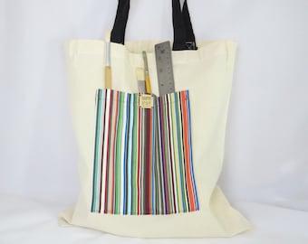Artist's Tote Bag, Stripes, Creative Spirit