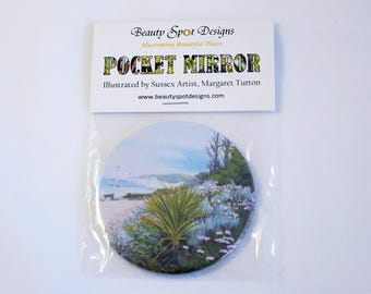 Seaside Garden Pocket Mirror