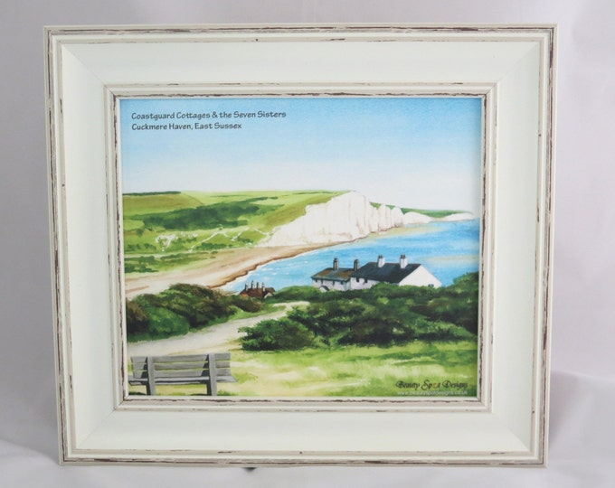 Featured listing image: Coastguard Cottages Shabby Chic Framed Print