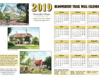 2019 Bloomsbury Trail Wall Calendar Download
