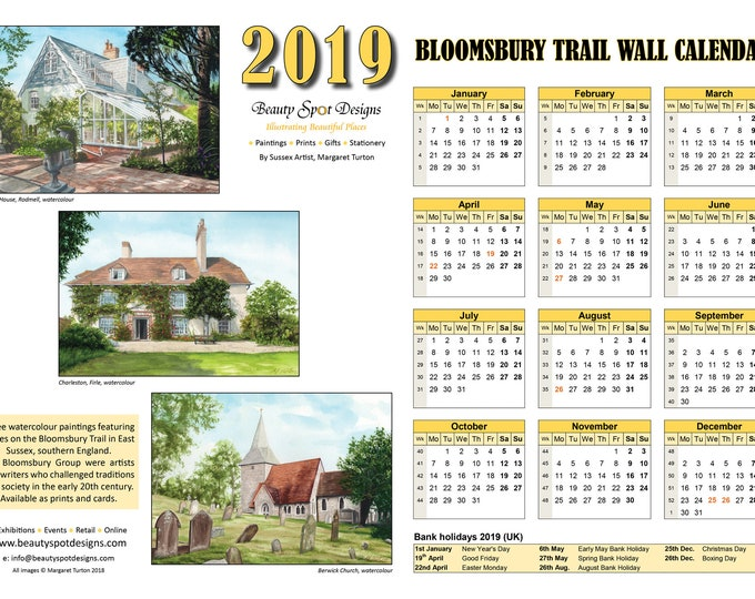 Featured listing image: 2019 Bloomsbury Trail Wall Calendar Download