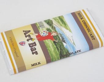 100g Milk Chocol'Art Bars, Sussex Beauty Spots