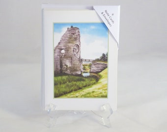 Pack of 6 Pevensey Castle Note Cards