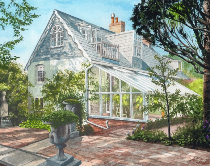 Featured listing image: Monk's House in Sussex, watercolour painting
