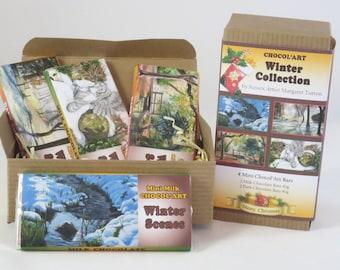 Winter Collection 4x40g Chocolate Bars, Christmas Gift Box