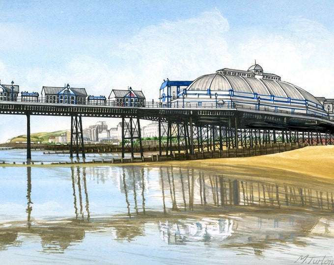 Featured listing image: Eastbourne Pier Looking West, mounted print signed
