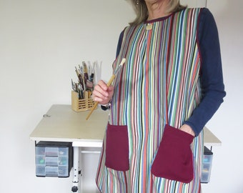 Art and Craft Tabard, practical and colourful, handmade