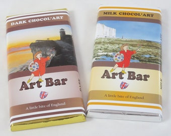 Double Chocol'Art Bars, 2x100g bars Sussex Scenes