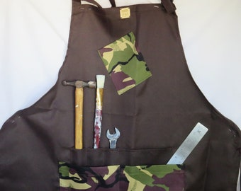 Art and Craft Apron, camouflage pattern