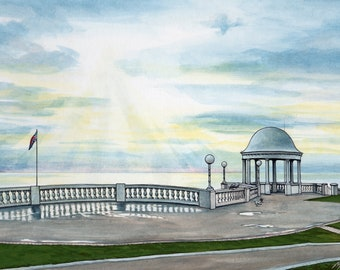 Heavenly Sunshine Bexhill Print, mounted and signed by artist
